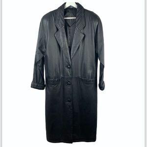 Vintage Jacquline Ferrar Longline Leather Jacket